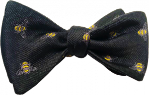 Black with Honey Bees Bow Tie